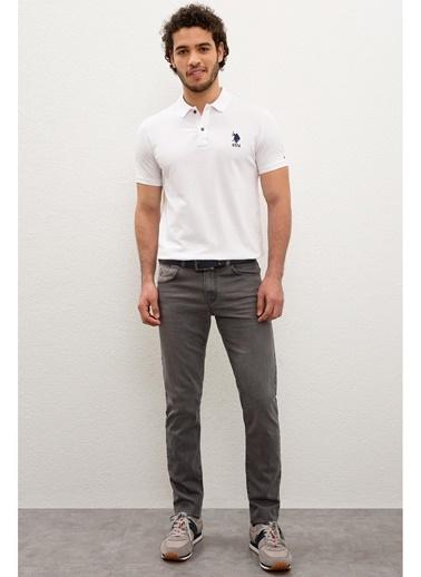 U.S. Polo Assn. U.S. Polo Assn. Slim Fit Erkek Denim Pantolon Gri